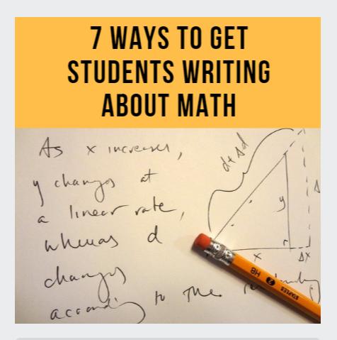 image on writing about math